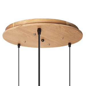 Oak Wood Multi Ceiling Light Mounting Cover - Staunton and Henry