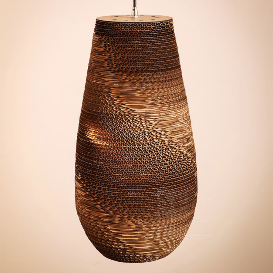 Recycled Cardboard Pendant Light - Staunton and Henry