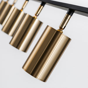 Modern Brass Hanging Track Lights - Staunton and Henry