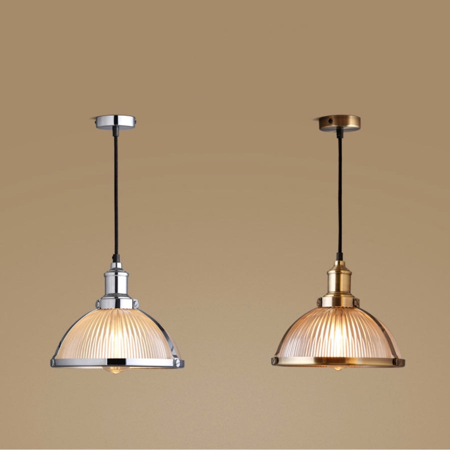 Retro Industrial Glass Pendant Light - Staunton and Henry