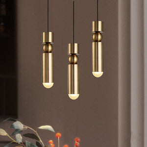 Retro Modern Brass Pendant Light - Staunton and Henry