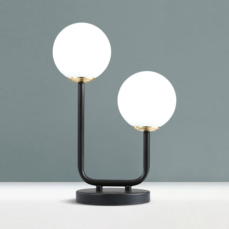 Retro Modern Frosted Glass Table Lamp - Staunton and Henry
