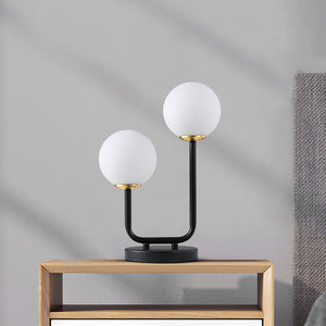 Retro Modern Frosted Glass Table Lamp