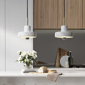 White Marble Pendant Light