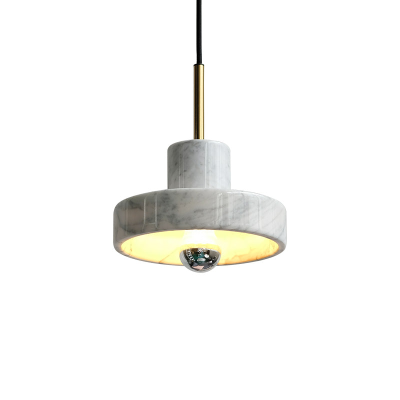 White Marble Pendant Light - Staunton and Henry