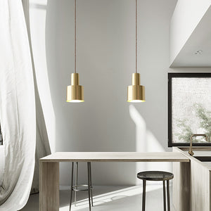 Retro Modern Matt Brass Pendant Light