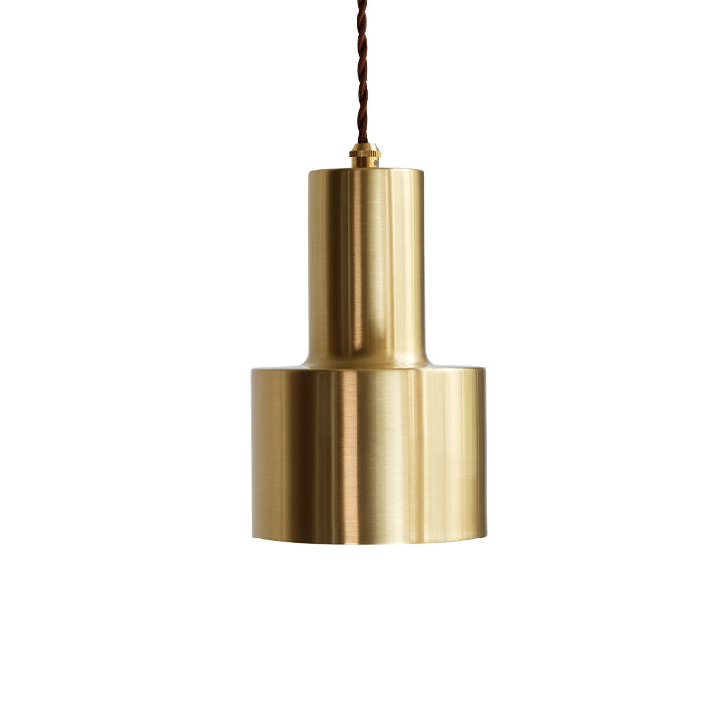 Retro Modern Matt Brass Pendant Light - Staunton and Henry
