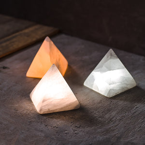 Natural Stone Pyramid Lamp - Staunton and Henry
