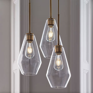 Modern Brass and Glass Pendant Light - Staunton and Henry