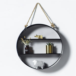 Round Hanging Wall Shelf