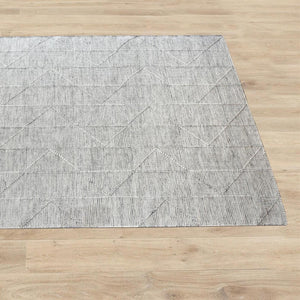 Yerem White and Grey Modern Rug - Staunton and Henry