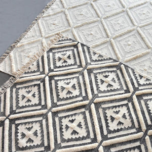 Iruti Textured Modern Tribal Rug - Staunton and Henry