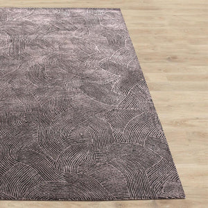 Esher Taupe and Grey Textured Wool Rug - Staunton and Henry
