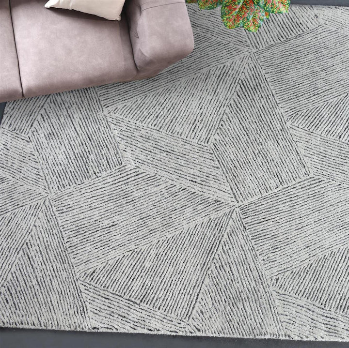 Ester Modern White and Grey Rug - Staunton and Henry