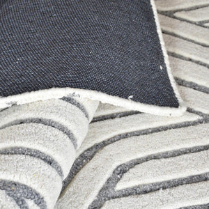 Natoya White and Grey Modern Rug - Staunton and Henry
