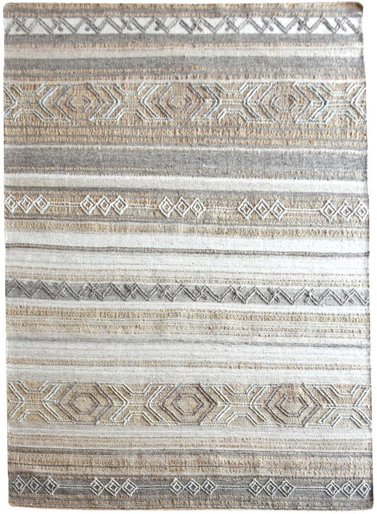 Yukon Grey and Beige Modern Kilim Rug - Staunton and Henry