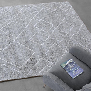 Winslet Modern Grey and White Area Rug - Staunton and Henry