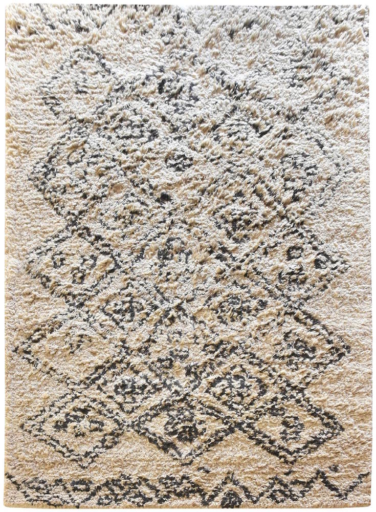Torres White and Black Wool Rug - Staunton and Henry