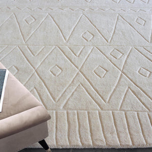 Anushka Cream White Wool Rug - Staunton and Henry