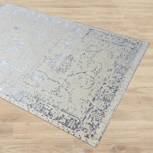 Shilka Cream and Grey Area Rug - Staunton and Henry