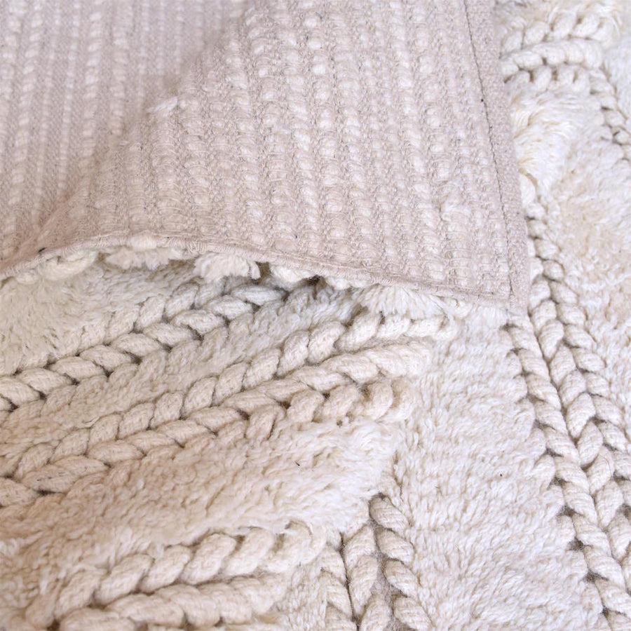 Ropas Chunky Weave Off White Rug - Staunton and Henry
