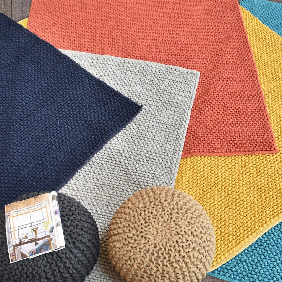 Blok Colourful Chunky Weave Area Rug - Staunton and Henry