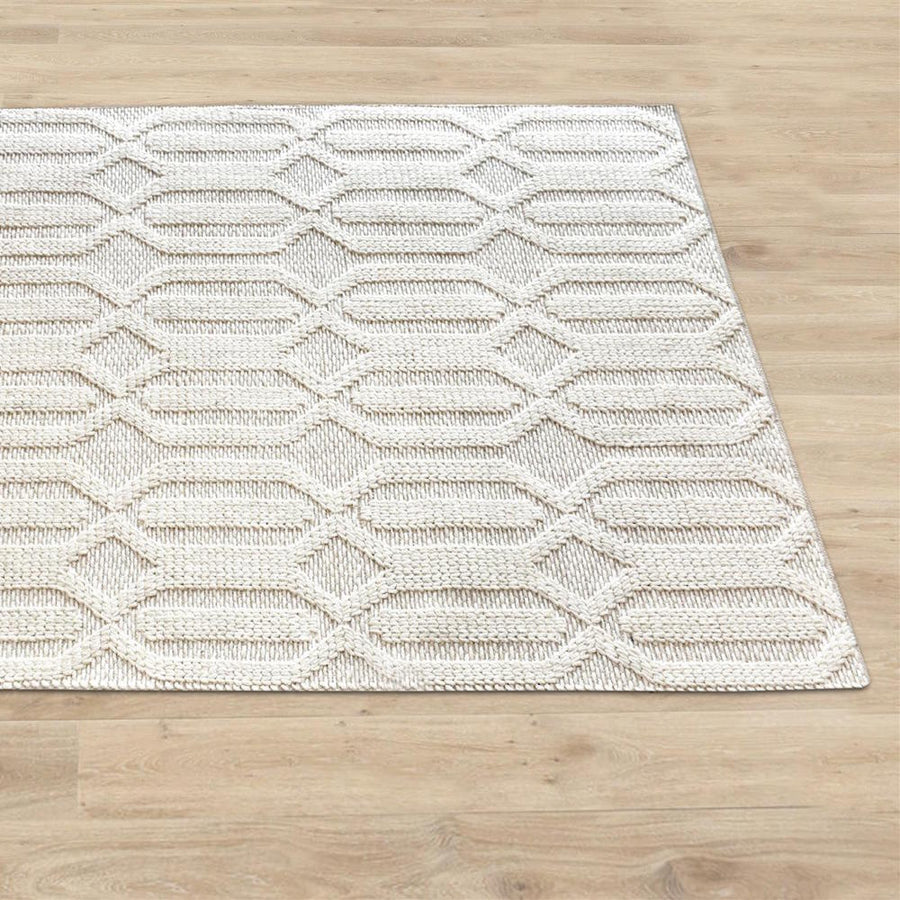 Yerra Modern Chunky Weave Off White Rug - Staunton and Henry