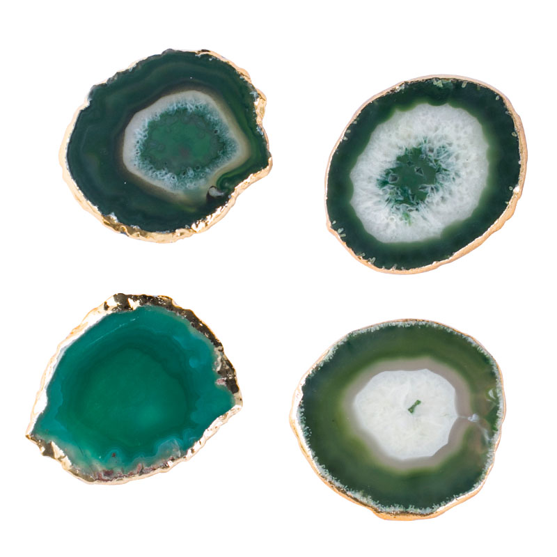 Agate Drink Coasters - Staunton and Henry