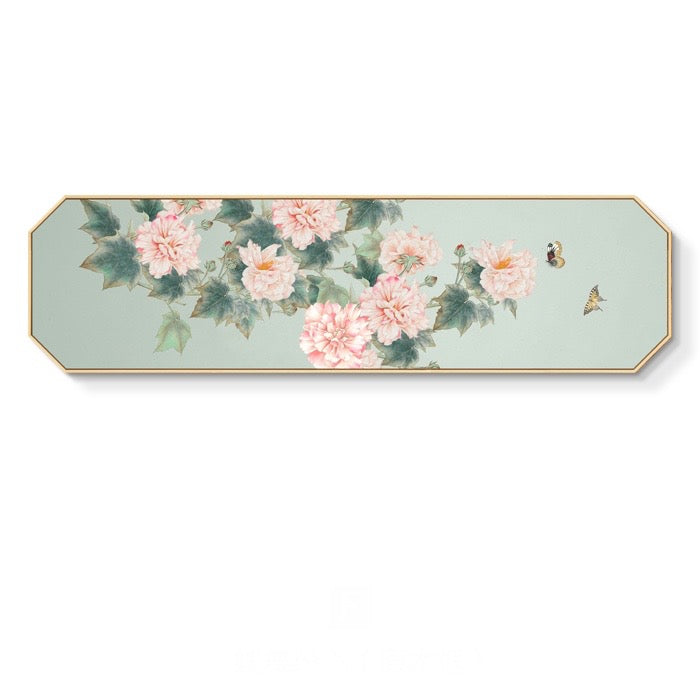 Pink Peonies Wall Art With Wood Frame - Staunton and Henry