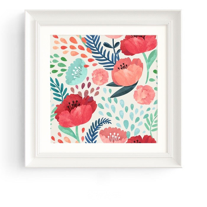 Botanicals Wall Art White Frame - Staunton and Henry
