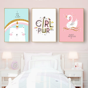 Cute Girls Room Wall Art With Frame - Staunton and Henry