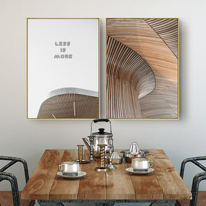 Less Is More Wall Art With Frame - Matching Set of 2 - Staunton and Henry