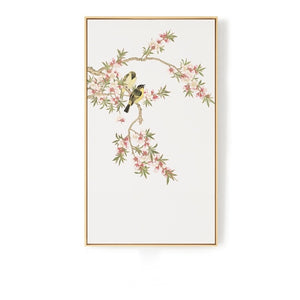 Oriental Birds Wall Art With Frame - Staunton and Henry