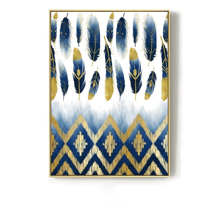 Inspirational Blue and Gold Wall Art With Frame - Staunton and Henry