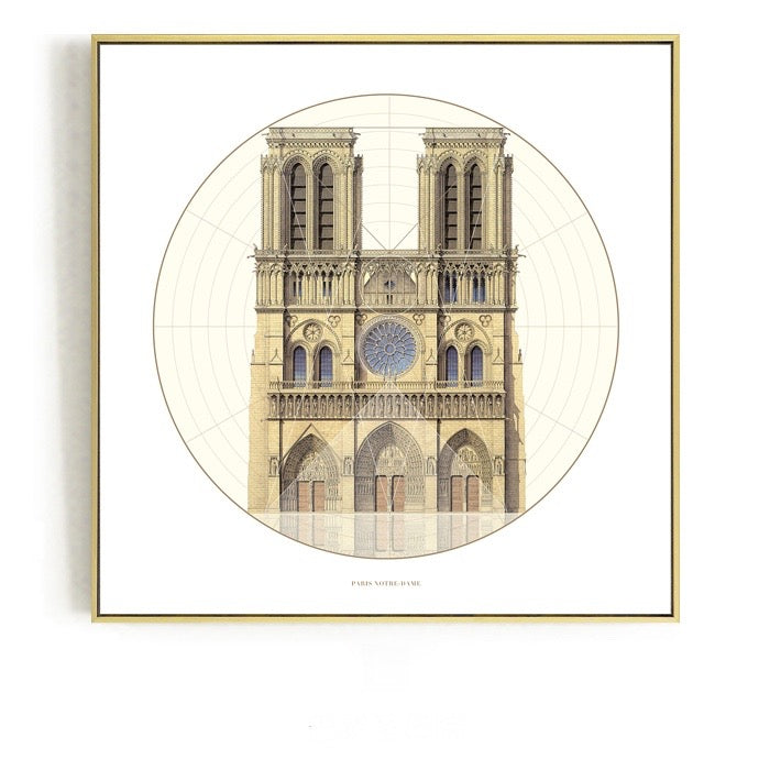 Classic Architecture Wall Art With Frame - Staunton and Henry