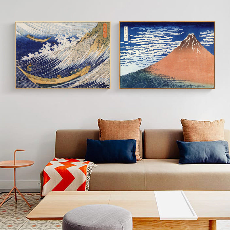 Japanese Wave Wall Art With Frame - Staunton and Henry