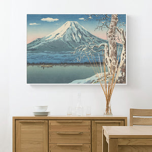 Japanese Mount Fuji Wall Art With Frame - Staunton and Henry