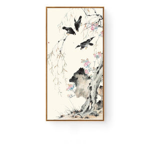 Pastel Oriental Wall Art With Frame - Staunton and Henry