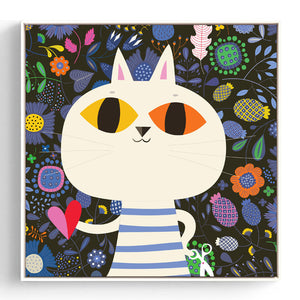Colorful Kids Animal Wall Art With Frame - Staunton and Henry
