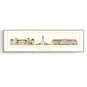 Architecture Drawing Wall Art With Frame - Staunton and Henry
