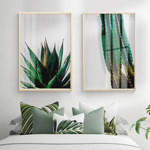 Transparent Botanical Wall Art With Frame - Staunton and Henry