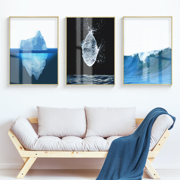 Transparent Ocean Wall Art With Frame - Staunton and Henry