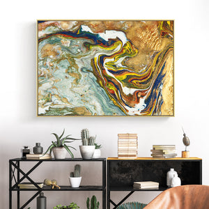 Liquid Pouring Wall Art With Frame - Staunton and Henry