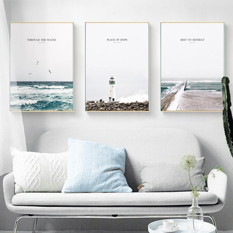 Inspirational Ocean Photographic Wall Art With Frame - Staunton and Henry