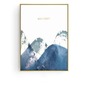 Abstract Blue and White Wall Art With Frame - Staunton and Henry