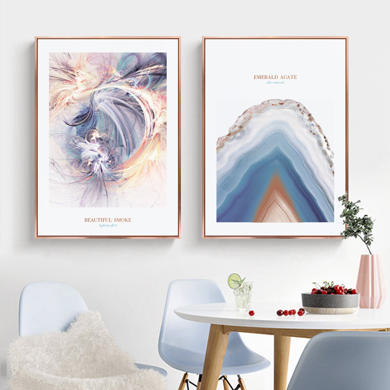 Pink And Blue Photographic Wall Art With Frame - Staunton and Henry