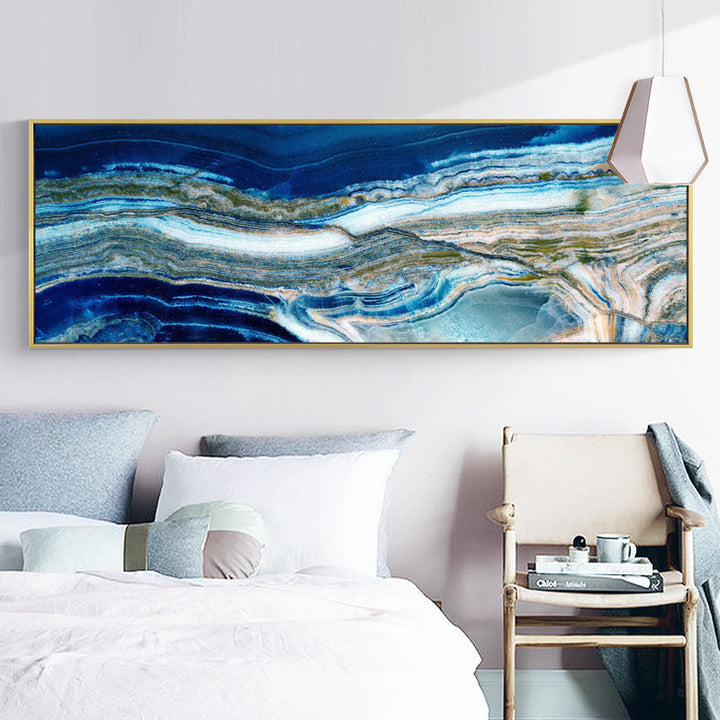 Wide Poured Liquid Wall Art With Frame - Staunton and Henry