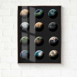 Transparent Moon Wall Art With Frame - Staunton and Henry