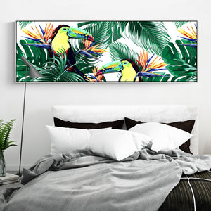 Modern Tropical Wall Art With Frame - Staunton and Henry