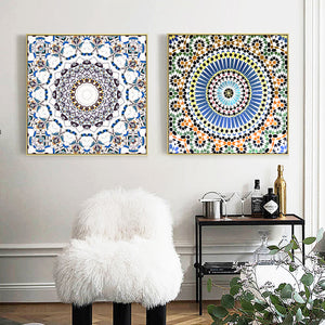 Kaleidescope Wall Art With Frame - Staunton and Henry
